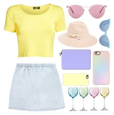"""""""#80"""" by aphaphaph ❤ liked on Polyvore featuring Oliver Peoples, Pilot, August Hat, Casetify, LSA International and Wildfox"""
