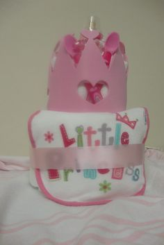 Affordable diaper cakes from shersgifts.com  Selling @ the Cloverdale Sunday (flea) market every Sunday.  As low as 2o dollars a cake