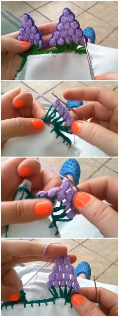 Crochet Grapes Edging