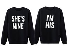 cdbdc5b909 His And Her Shirts, She's Mine I'm His, Couple Sweatshirt, Matching Couple,  Couple Hoodie, Cute Couple Shirts, Couple Gift, Anniversary Gift