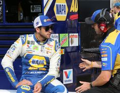 Chase Elliott, driver of the NAPA Auto Parts Chevrolet, sits by his car during qualifying for the Monster Energy NASCAR Cup Series Consmers Energy 400 at Michigan International Speedway on August 2018 in Brooklyn, Michigan. Camaro Zl1, Chevrolet Camaro, Brooklyn Michigan, Nascar Champions, Bristol Motor Speedway, Today In Pictures, Monster Energy Nascar, Chase Elliott, August 10