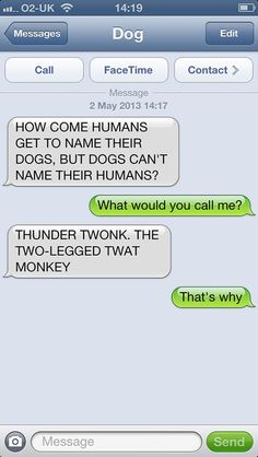 If Your Dog Could Text, He Would Probably Send You Messages Like These - Not sure why, but this made me truly LOL...for awhile.