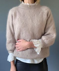 Knit Fashion, Boho Fashion, Slow Fashion, Fashion Outfits, Fashion Design, Melbourne Fashion, Crochet Shirt, Mohair Sweater, Sweater Weather