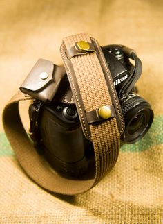 Camera strap with Shoulder Pad and Memory Card / Roll by LogeeBox, $72.00