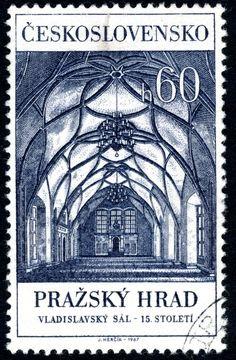 Art Arte Art Cssr Czechoslovakia 1969 Prague Castle Stamps