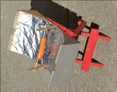 Kids use applied math to build and test a parabolic mirror for How to build a solar oven for kids