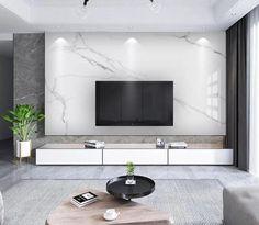 Modern Tv Room, Modern Tv Wall Units, Tv Wand Design, Living Room Tv Unit Designs, Home Room Design, House Rooms, Tv Rooms, Luxury Living, Living Room Decor