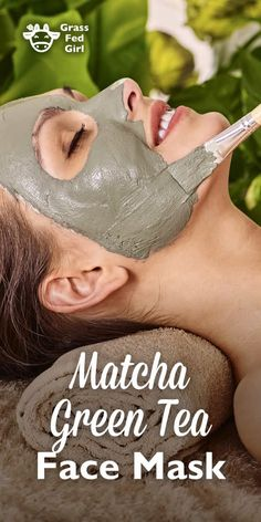 Matcha Green Tea and Frankincense Face Mask - Faciale Matcha Face Mask, Diy Beauty Hacks, Beauty Tips, Beauty Care, Beauty Skin, Green Tea Face, Clay Face Mask, Home Remedies For Acne, Homemade Face Masks