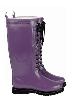These handmade rain boots can withstand even the hardest torrential downpour. Made specifically to deal with wind and water, our rain boots can help you love the rain.We have chosen to make our rain boots out of the finest single-estate natural rubbe Tall Lace Up Boots, Pink Rain Boots, Rubber Rain Boots, Laced Boots, Red Shoes, Lace Up Shoes, Fab Life, Shoes World, Shoe Collection
