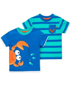 Little Me Baby Boys' 2-Pack Crab Tees - Kids Baby Boy (0-24 months) - Macy's