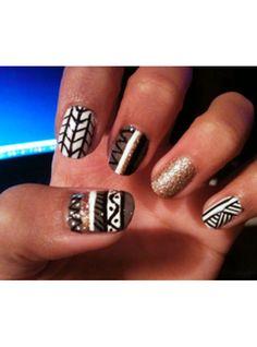 Navajo Nails ♥  Fashionavenue.