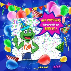 KIRBY SAYS: May birthdays bounce on over to Ribbits for your special gift! 🐸 🎉 #theklubgymnastics #Klubgymnastics #theklub #theklubgym #klubgym #tkg #frogtown #nela #silverlake #kidsgymnastics #gymnastics #la #losangeles