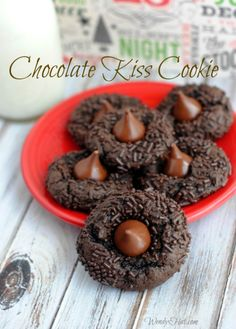 Chocolate Kiss Cookie Recipe is a triple threat of chocolate and made simple for holiday baking by using a cake mix.