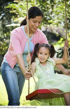 as she swings