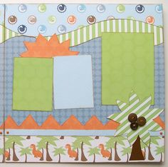 RaWr Premade 2 Page 12x12 Scrapbook Layout by GLOwormpaperdesigns, $15.95
