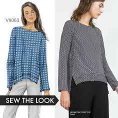 Sew the Look: Vogue Patterns V9063 tunic sewing pattern.                                                                                                                                                      More