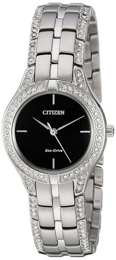 Citizen Eco-Drive Women's FE2060-53E Silhouette Crystal Watch >>> Want additional info for the watch? Click on the image.