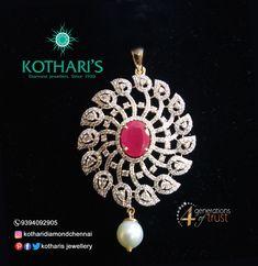 Indian Jewellery Design, Indian Jewelry, Jewelry Design, Diamond Jewelry, Gold Jewelry, Gold Necklace, Diamond Wedding Sets, Quality Diamonds, Pendant Set