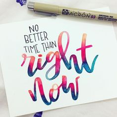 ried a different colour combination for this one tonight, for the challenge! Calligraphy Quotes Doodles, Brush Lettering Quotes, Doodle Quotes, Hand Lettering Styles, How To Write Calligraphy, Watercolor Lettering, Calligraphy Handwriting, Hand Lettering Quotes, Creative Lettering