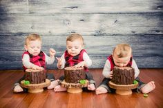 Boys Lumberjack Themed Birthday party Smash cake ideas
