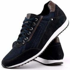 Sapatenis Tênis Casual Couro Jogger Jogging Masculino Dhl - R  79 1c81630471d