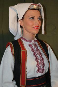 Serbian costume from Kupres. Srpske narodne nosnje is Kupresa Europe Fashion, Fashion History, Folk Costume, Costumes, Republika Srpska, Europe Style, Head Coverings, Traditional Clothes, Serbian