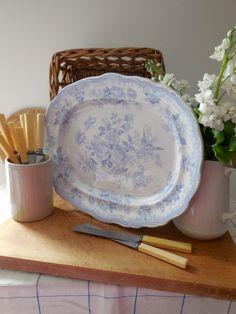 Antique blue  white Asiatic Pheasants platter  #kitchen#interiors#decor
