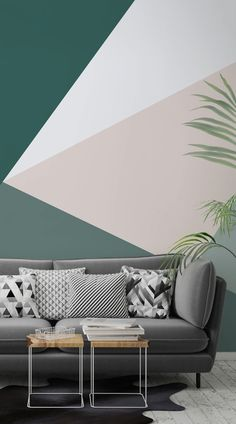 Modernise your home with these cutting-edge Geometric Wallpaper Murals - Murals Wallpaper Geometric Wallpaper Murals, Home Wallpaper, Office Wallpaper, Kitchen Wallpaper, Trendy Wallpaper, Geometric Wall Paint, Geometric Decor, Geometric Shapes, Bedroom Ideas
