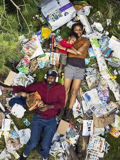 7 Days Of Garbage - Mezmerizing Photos of People Lying in a Week's Worth of Their Trash (Gregg Segal)