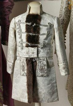 """The kaftan belonging to Tsarevich Alexei Nikolaevich Romanov of Russia in 1905. """"AL"""""""