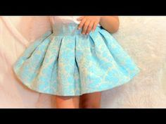 Girl skirt, pattern with tutorial video to learn how to do it . Baby Frock Pattern, Frock Patterns, Baby Dress Patterns, Long Shirts For Girls, Baby Dress Design, London Outfit, Kids Frocks Design, Techniques Couture, Pleated Midi Skirt