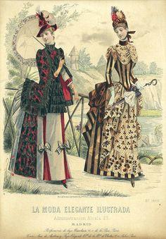 La Moda Elegante Ilustrada. Madrid, 1880s.