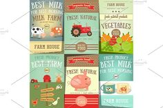 Farm Food and Agriculture Posters  by elfivetrov on @creativemarket