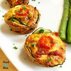 Syn Free Delicately Spiced Courgette and Bacon Breakfast Muffins | Slimming World