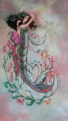 """South Seas Mermaid"" - counted cross stitch - Mirabilia"