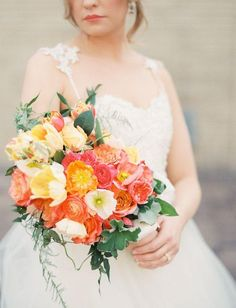 colorful wedding bouquet ideas