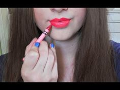 Crayon lipstick. . . this is actually pretty cool, but I wonder what the taste is like? Maybe add a drop of mint extract or something so it doesn't taste like crayons?