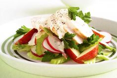 Crunch through this combo of fruit, vegies and chicken for a nutrient-packed dinner.