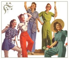 Learn about the 1940's War Time era clothing, what was hot and not, and how to dress like the forties today.