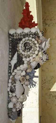 Shell Covered Wall Bracket