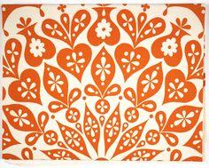 Alexander Girard, Cutout Tablecloth [Orange and white], 1961 @sfmoma
