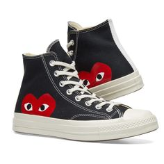 competitive price b7936 a738f Comme des Garcons Play x Converse Chuck Taylor 1970s Hi Black 7 Kids  Converse, Outfits