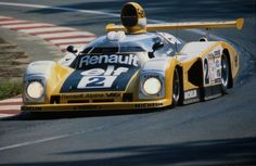 The #2 Renault Alpine A442B driven by Didier Pironi & Jean-Pierre Jaussaud to victory at the 1978 24 Hrs of Le Mans.