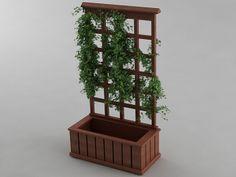 Trellis Planter 3D Model .max .obj .3ds .stl .wrl .wrz
