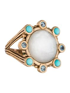 $180.00   Stephen Dweck Multi-Gem Cocktail Ring