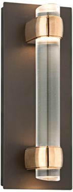 """Utopia Collection Bronze LED 14-Inch-H Wall Sconce $628   14 """"  powder room"""