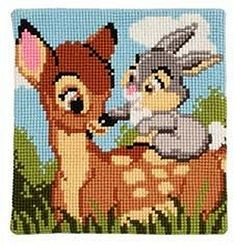 Deer Bambi cross stitch.