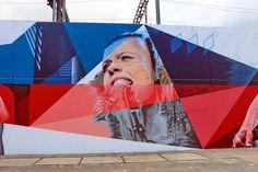 Wall paints, Muurschilderingen, Peintures Murales,Trompe-l'oeil, Graffiti, Murals, Street art.: Eindhoven - Netherlands (Sharon Kovacs) artist  - Belin, Zenk, Nas & Studio Giftig