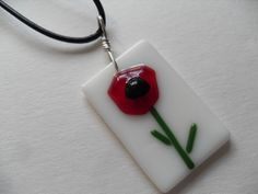 Hey, I found this really awesome Etsy listing at https://www.etsy.com/listing/96834654/fused-glass-poppy-whimsical-flower