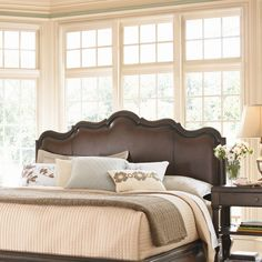 Universal Furniture Contessa Bed Headboard in Distressed Old World Cherry